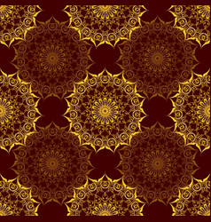 seamless pattern with baroque ornamental elements vector image vector image