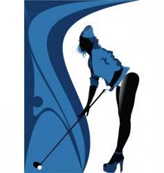 sexy golf vector image vector image