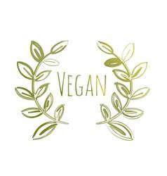 vegan eco label vector image vector image