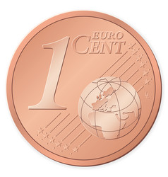 1 euro cent vector image