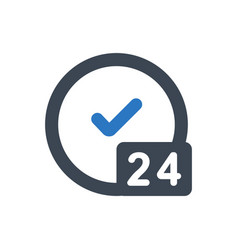 24 hours service icon vector