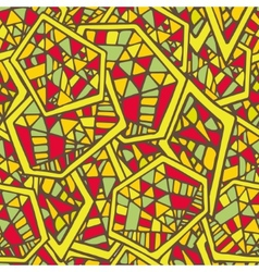 Abstract geometric seamless pattern with mosaic vector image