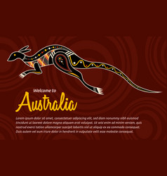 Abstract kangaroo vector