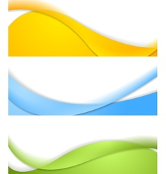 Abstract wavy banners vector