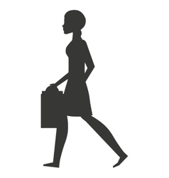 avatar person with shopping bags vector image
