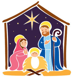 Baby Jesus in a manger 5 vector image