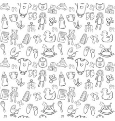 Baby seamless pattern background set vector