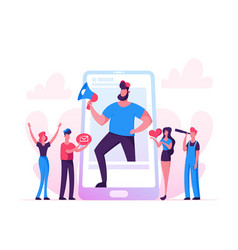 Blogging social media networking concept huge vector