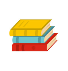 Book school icon flat style vector