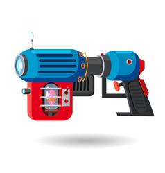 cartoon retro space blaster ray gun laser weapon vector image