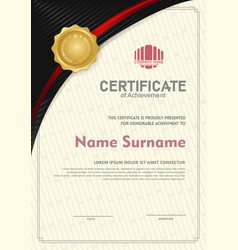 Certificate template with circular angel and line vector