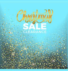 christmas sale clearance vector image