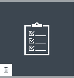 clipboard related glyph icon vector image