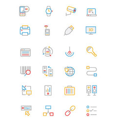Communication Colored Outline Icons 4 vector image