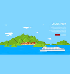 cruise tour banner vector image