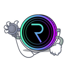 Doctor request network coin character cartoon vector