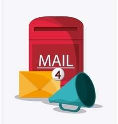 Envelope box mail communication icon vector