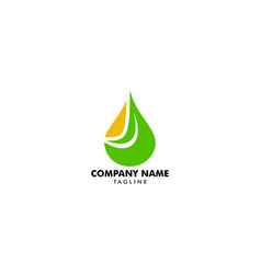 essential oil logo design natural oil with fresh vector image