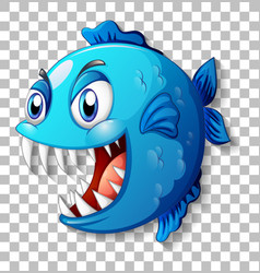 Exotic fish with big eyes cartoon character vector