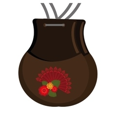 Flamenco castanets instrument icon vector