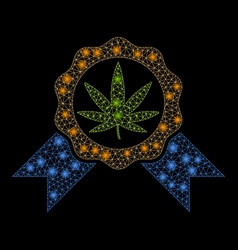 Flare mesh 2d cannabis legalize with flare spots vector