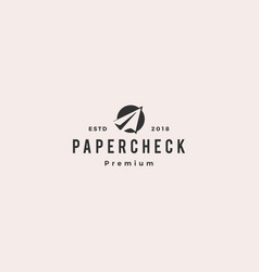 Flight check paper plane logo icon vector