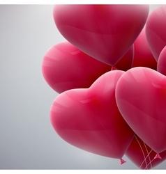 flying bunch of balloon hearts vector image