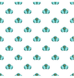 Gas mask pattern seamless vector