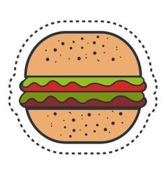 hamburger fast food isolated icon vector image