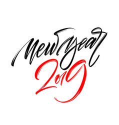 happy new year 2019 hand writting lettering design vector image