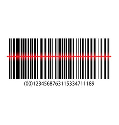 Isometric barcode with laser scanning vector