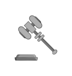 Judges gavel icon black monochrome style vector image