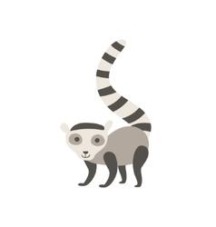 Lemur Stylized Childish Drawing vector