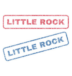 Little rock textile stamps vector