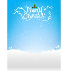 Merry christmas text with snow bakcground eps10 vector