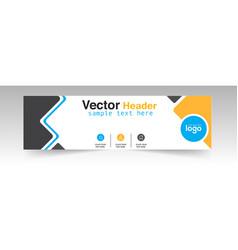 modern yellow black header design logo background vector image
