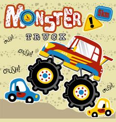 Monster trucks cartoon vector