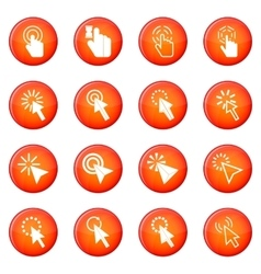 Mouse pointer icons set vector image