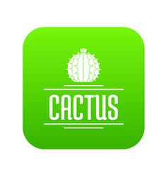 nature cactus icon green vector image