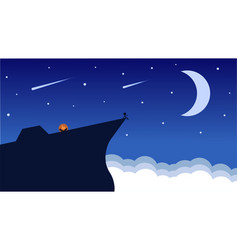 night sky wallpaper vector image