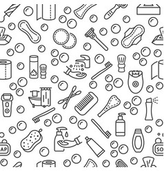 Personal hygiene products seamless pattern with vector