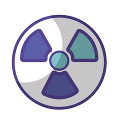 Radiation symbol to dangerous and ecology vector