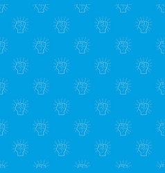 riot pattern seamless blue vector image