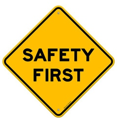 Safety First Symbol vector image vector image