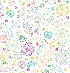 Seamless sweet floral pattern vector