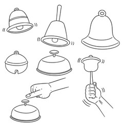 set of bell vector image