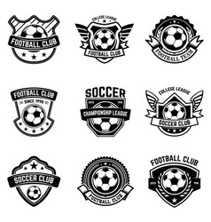 Set of soccer football emblems design element for vector