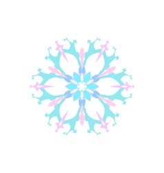 Snowflake Isolated Merry Christmas vector
