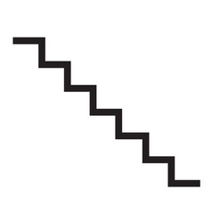 Staircase icon on white background flat style vector