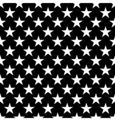 Stars seamless pattern small white black vector